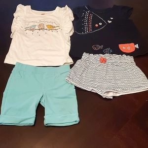 Bundle Of First Impressions Girls Tops & Shorts